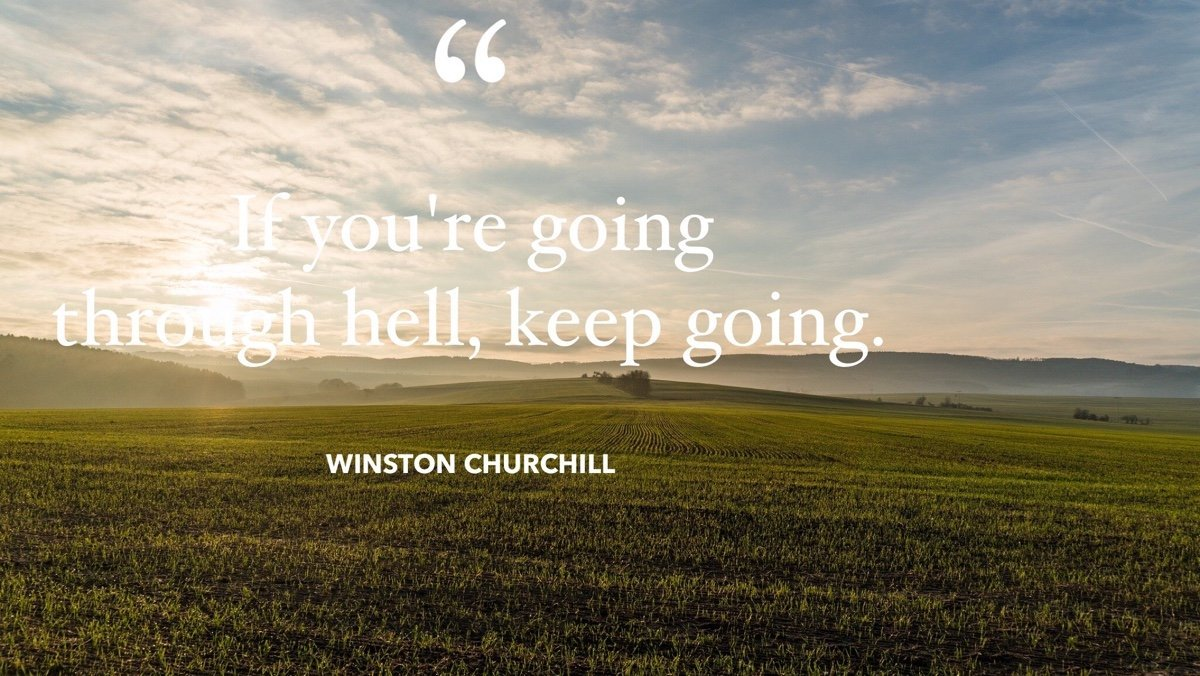 keep going winston churchill quote
