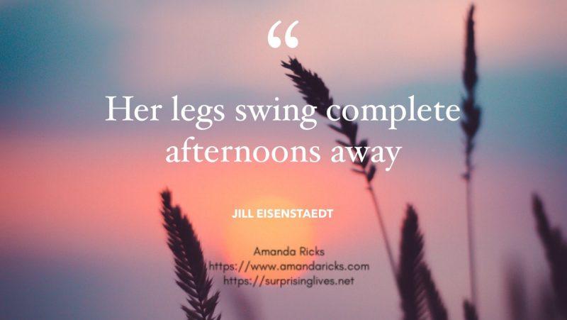 her legs swing away quote