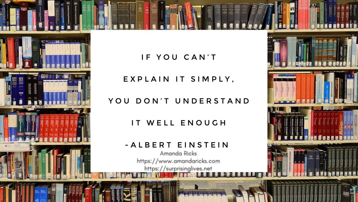 Explain it simply albert einstein quote