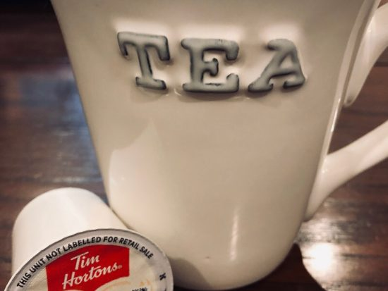 cup of tim hortons keurig steeped tea